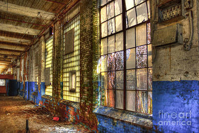 Photograph - The Forgotten Wall Mary Leila Cotton Mill  by Reid Callaway