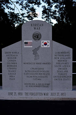 Photograph - The Forgotten War Monument Korean War by Lesa Fine