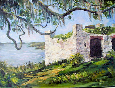 The Fort At Frederica Art Print by Albert Fendig