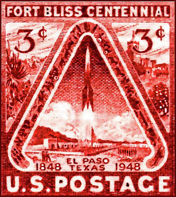 Background Painting - The Fort Bliss Stamp by Lanjee Chee
