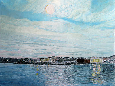 Painting - The Fort Gloucester Mass by Laurence Dahlmer