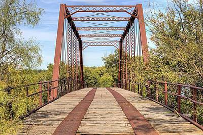 Photograph - The Fort Griffin Bridge by JC Findley