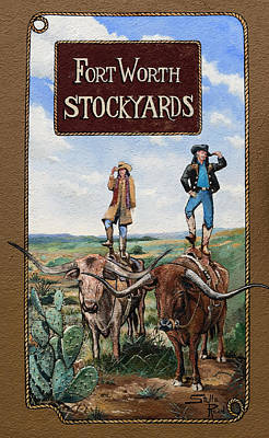 The Fort Worth Stockyards  Art Print by Mountain Dreams