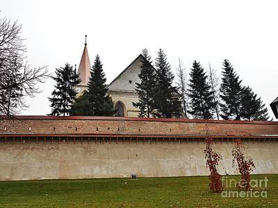 Photograph - The Fortress Church And The Wall by Erika H