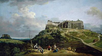 The Fortress Of Konigstein Art Print by Bernardo Bellotto