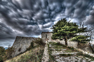 Photograph - The Fortress The Tree The Clouds by Enrico Pelos