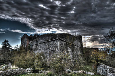 Photograph - The Fortress The Trees The Clouds by Enrico Pelos