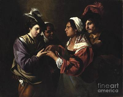 Astrology Painting - The Fortune Teller by Bartolomeo Manfredi
