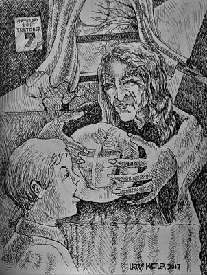 Drawing - The Fortune Teller Of Apple Trees by Larry Whitler