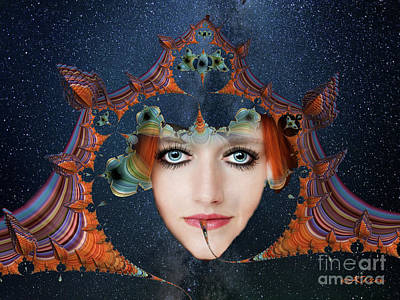Mixed Media - The Fortuneteller by Kira Bodensted