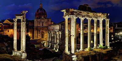 Photograph - The Forum At Night - Short Version by Weston Westmoreland