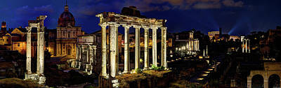 Photograph - The Forum At Night by Weston Westmoreland