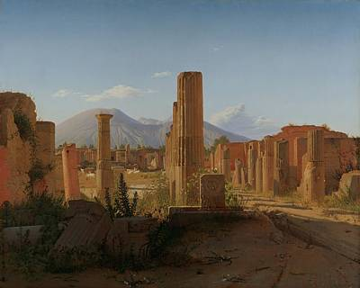 Pompeii Painting - The Forum At Pompeii With Vesuvius In The Background by Mountain Dreams