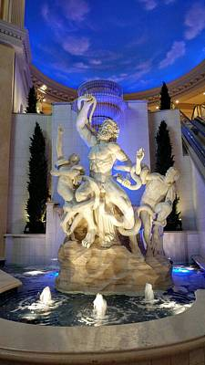 Photograph - The Forum Shop Statues At Ceasars Palace by Richard Yates