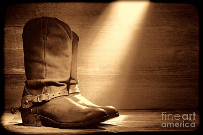 Photograph - The Found Boots by American West Legend By Olivier Le Queinec
