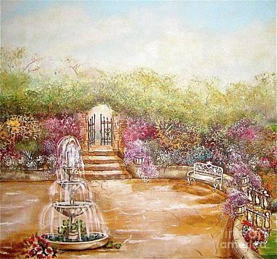The Fountain Art Print by Elizabeth Gomez