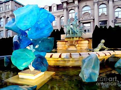 Digital Art - The Fountain Of Life by Ed Weidman