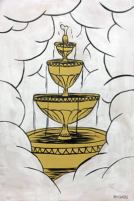 Painting - The Fountain Of Life by Nathan Rhoads