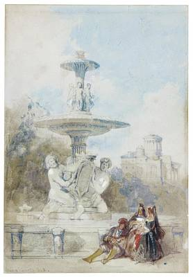 The Fountain Of The Artichoke Art Print by MotionAge Designs