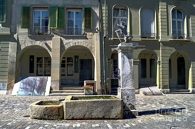 Photograph - the fountain of the Junkerngasse by Michelle Meenawong