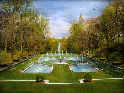 Art Print featuring the photograph The Fountains by John Rivera