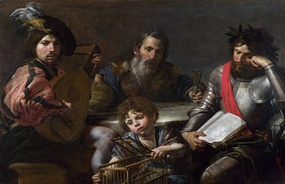 Moral Painting - The Four Ages Of Man by Valentin de Boulogne