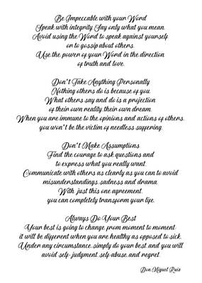 Photograph - The Four Agreements 14 by Andrea Anderegg