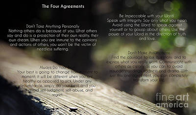 Photograph - The Four Agreements 4 by Andrea Anderegg