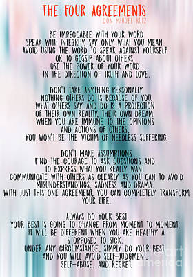 Photograph - The Four Agreements - Colorful  by Andrea Anderegg