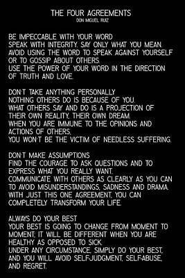 Photograph - The Four Agreements #minimalist 2 by Andrea Anderegg