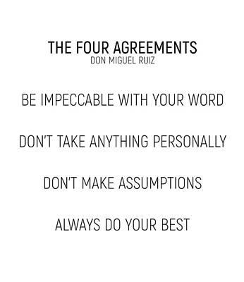 The Four Agreements #minismalism #shortversion Art Print