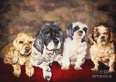 The Four Amigos Art Print by Janice Rae Pariza