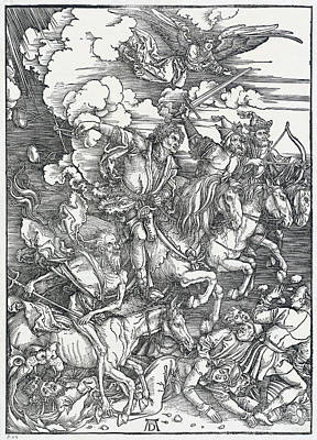 Drawing - The Four Horsemen by Albrecht Durer