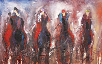 Painting - The Four Horsemen by John Jr Gholson