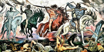 Digital Art - The Four Horsemen by Pennie McCracken