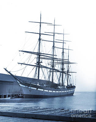 Photograph - The Four Masted Steel Barque 'dumfriesshire', 2565 Tons by California Views Archives Mr Pat Hathaway Archives
