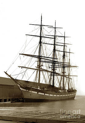 Photograph - The Four Masted Steel Barque 'dumfriesshire', 2565 Tons, San Fra by California Views Archives Mr Pat Hathaway Archives