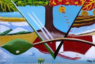 Painting - The Four Seasons by Rod Ismay
