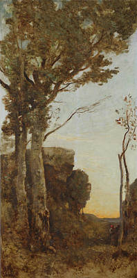 Aurora Painting - The Four Times Of Day - Morning by Camille Corot
