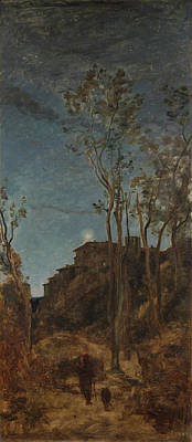 The Four Times Of Day - Night Art Print by Camille Corot