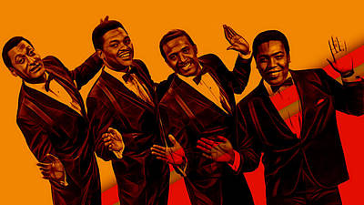 Soul Mixed Media - The Four Tops Collection by Marvin Blaine