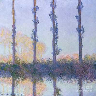 The Four Trees, 1891 Art Print by Claude Monet