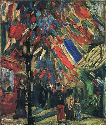 Bastille Day Celebration Painting - The Fourteenth Of July Celebration In Paris, 1886 by Vincent Van Gogh