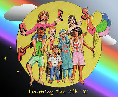 Drawing - The Fourth R by Larry Whitler