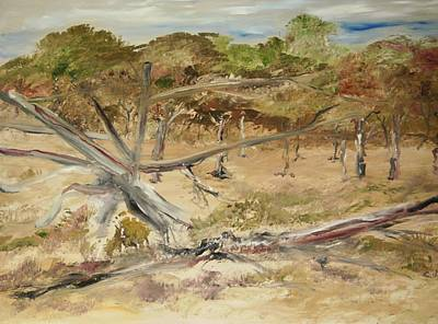 The Fourty-niner Highwaytrees Art Print by Edward Wolverton