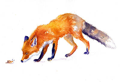 Painting - The Fox And The Snail by Debra Hall