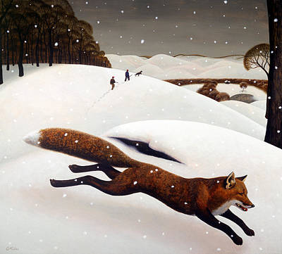 Wall Art - Painting - The Fox by Chris Miles