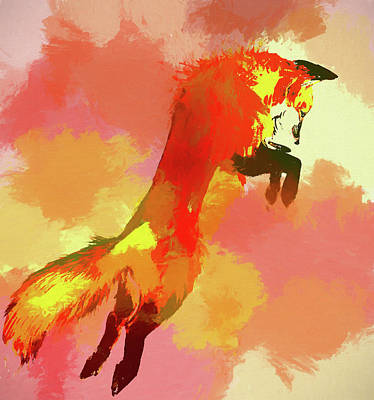 Fox Painting - The Fox by Dan Sproul