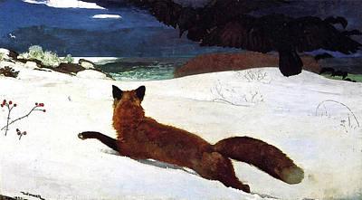 Red Sox Art Painting - The Fox Hunt, Digitally Enhanced, Winslow Homer by Winslow Homer