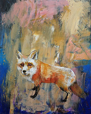 Abstract Impressionism Painting - The Fox by Michael Creese